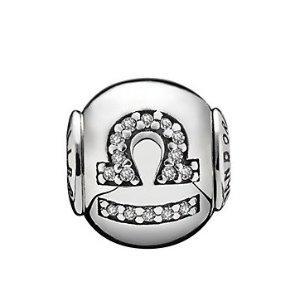 PANDORA The Essence Collection Silver CZ Libra Charm