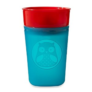 SKIP*HOP® Zoo 9 oz. Turn and Learn Owl Training Cup in Blue/Red - buybuy BABY