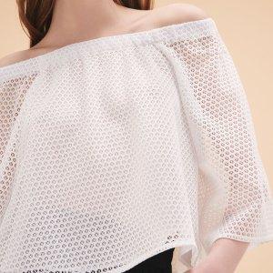 LOR Lace top - Tops & T-Shirts - Maje.com