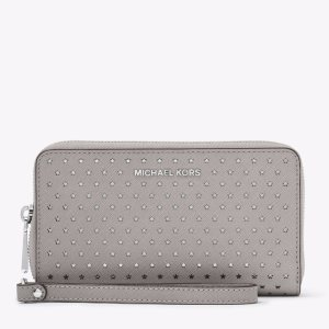 Jet Set Perforated Leather Smartphone Wristlet