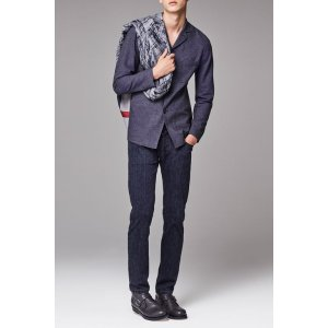 Giorgio Armani Men SINGLE-BREASTED COTTON JACQUARD JACKET , Cotton - Armani.com