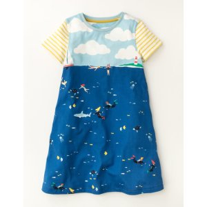 Underwater Jersey Dress 33559 Jersey Dresses at Boden