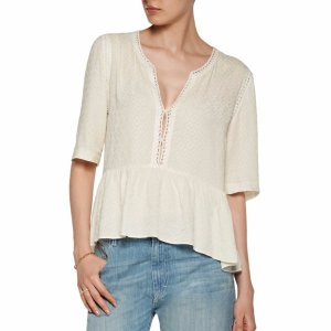 Eriko crocheted voile top | Sandro | US | THE OUTNET