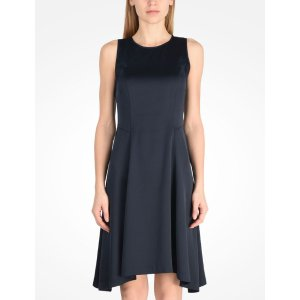 Armani Exchange SIMPLE SATIN FIT AND FLARE, Mini Dress for Women - A|X Online Store