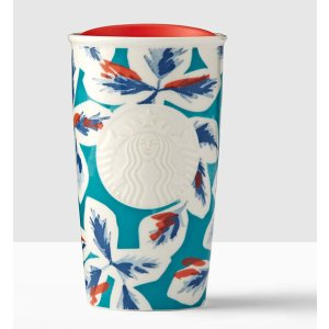 Teal Leaves Double Wall Traveler | Starbucks® Store