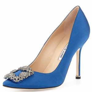 Manolo Blahnik Hangisi 105mm Satin Pump