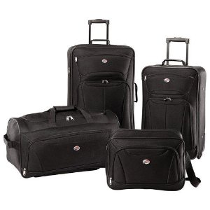 American Tourister - Fieldbrook II Luggage Set (4-Piece) - Black 49845188047 | eBay