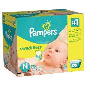 Pampers Swaddlers 婴儿纸尿布 新生儿 128片