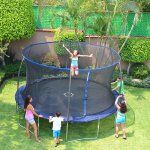 Bounce Pro 14 ft Trampoline with Flash Light Zone and Enclosure