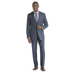 Traveler Slim Fit 2-Button Suit with Plain Front Trousers CLEARANCE - All Clearance   Jos A Bank