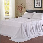 Balichun Microfiber 4-Piece Bed Sheet Set with 18-Inch Deep Pocket, Queen, White