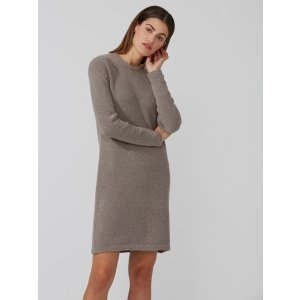 Boucle Sweater-Dress in Taupe Heather