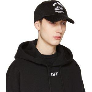Off-White: Black Construction Cap