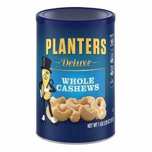 $7.76 包邮Planters Deluxe 整粒腰果 18.25oz
