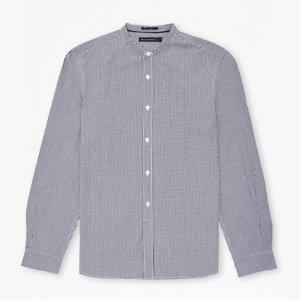 Gingham Grandad Collar Shirt