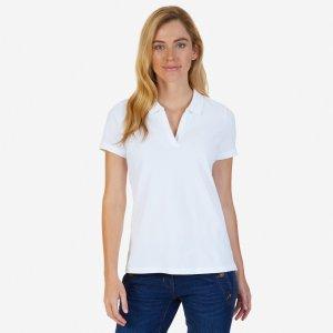 Split-Neck Polo Shirt - Bright White | Nautica