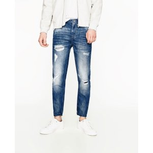 STRIPED PATCH JEANS - View All-JEANS-MAN-SALE | ZARA United States