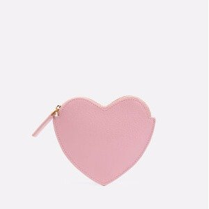 Lulu Guinness Women's Heart Shaped Small Coin Purse - Rose Pink