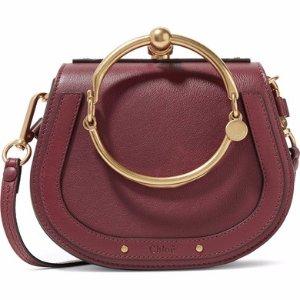 £967.09Chloe Nile Bracelet small leather and suede shoulder bag @ Net-A-Porter UK