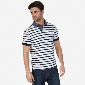 Classic Fit Striped Deck Polo Shirt