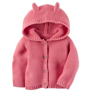 Baby Girl Hooded Cardigan | Carters.com