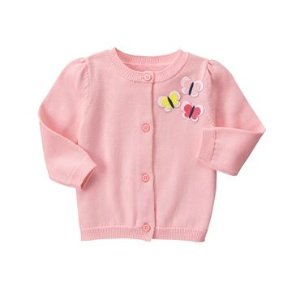 Baby Rosebud Butterfly Cardigan by Gymboree