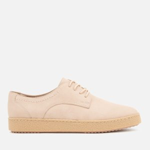 Clarks Women's Lillia Lola Nubuck Derby Shoes - Nude Pink - FREE UK Delivery