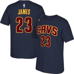 adidas Men's Cleveland Cavaliers LeBron James #23 Navy T-Shirt