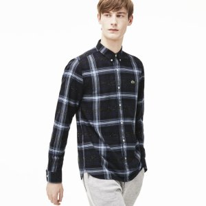 Men's L!VE Flannel Woven Shirt | LACOSTE