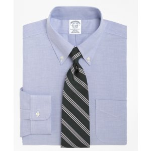 Men's Non-Iron Slim Fit BrooksCool Button-Down Collar Dress Shirt | Brooks Brothers