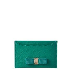 Salvatore Ferragamo Salvatore Ferragamo Miss Vara Leather Card Case | Bluefly.Com