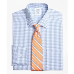 Non-Iron Regent Fit Tonal Sidewheeler Check Dress Shirt - Brooks Brothers