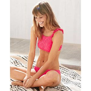 Aerie Crop Crochet Bikini Top , Luminous Fuchsia | Aerie for American Eagle