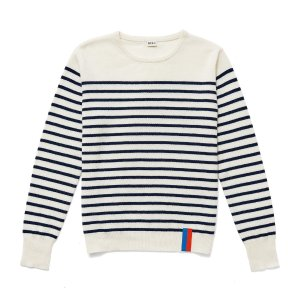 The Sophie Cashmere Sweater - Cream/Navy