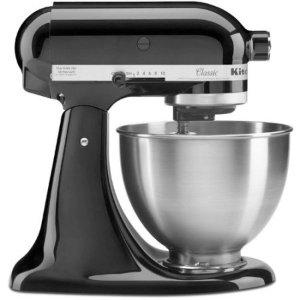 KitchenAid® Classic™ Series 4.5 Quart Tilt-Head Stand Mixer, Onyx Black (K45SSOB) - Walmart.com