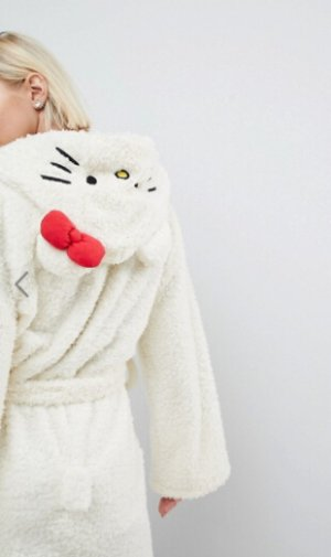 $60Hello Kitty X ASOS Fluffy Robe With Hood Detail