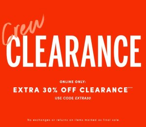 Up to 60% Off + Extra 30% OffClearance @ J.Crew Factory