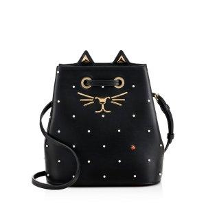Charlotte Olympia Feline Leather Bucket Bag | Bloomingdale's