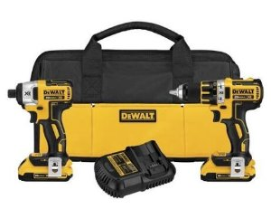 $179 DEWALT DCK281D2 20V Max XR Lithium Ion Brushless Compact Drill/Driver & Impact Driver Combo Kit