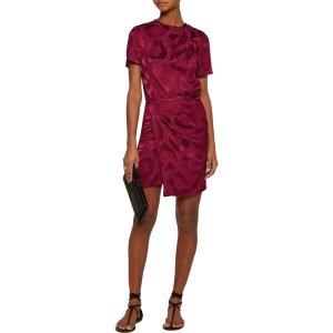 Servane layered satin-jacquard mini wrap dress