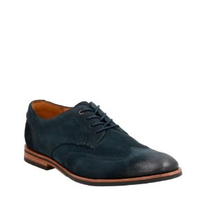 Broyd Wing Navy Suede - Men's Oxford Shoes - Clarks® Shoes Official Site