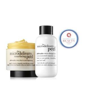 the microdelivery: in-home peel | in-home vitamin c/peptide peel | philosophy peels & masks