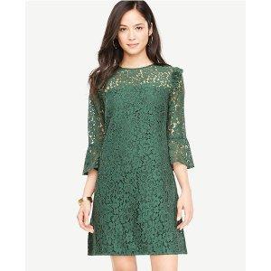 Bell Sleeve Lace Shift Dress | Ann Taylor