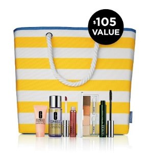 6-Piece Set for $36.5with Any Clinique Purchase @ Belk