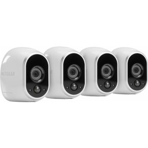 NETGEAR Arlo Smart Home Indoor/Outdoor Wireless High-Definition Security Cameras (4-Pack)