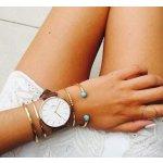 Daniel Wellington 0507DW玫瑰金色表盘时尚女士腕表