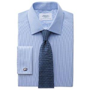 Classic fit Oxford sky blue shirt | Charles Tyrwhitt