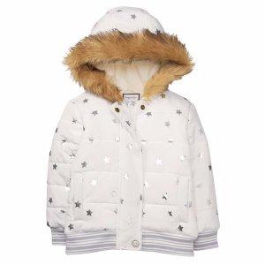 shiny star puffer jacket