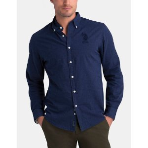 SLIM FIT HEATHER BRUSHED TWILL SHIRT - U.S. Polo Assn.