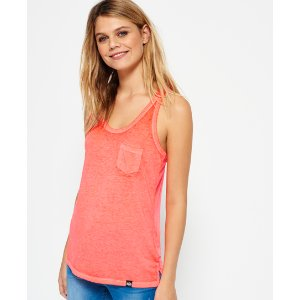 Superdry Burnout Pocket Vest Top - Women's Tops